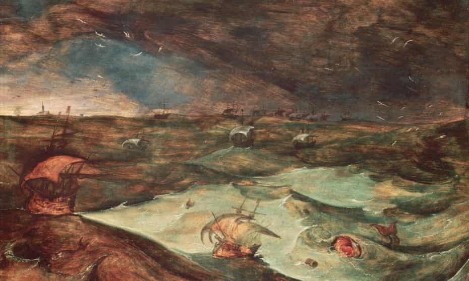 Storm at Sea (detail) by Joos de Momper the Younger