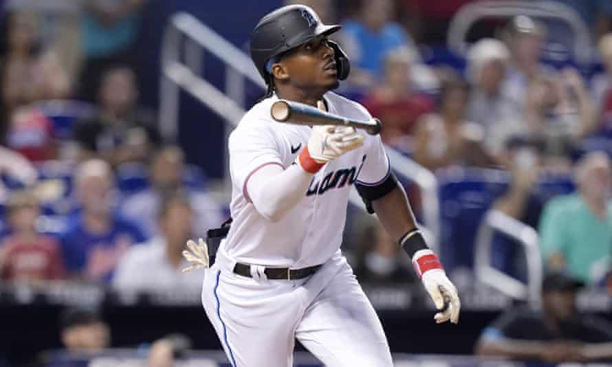 Lewis Brinson is in his fifth season in the major leagues