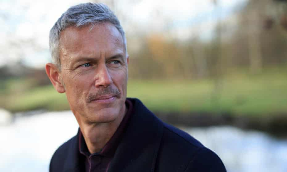 Mark Foster, pictured near his home in Hertfordshire. 'I got really good at the dance of telling half-truths' says the former Olympian.