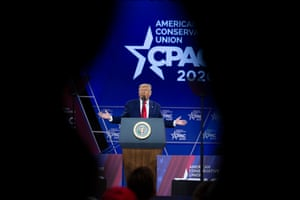 Donald Trump speaks during the Conservative Political Action Conference, CPAC 2020, at the National Harbor, in Oxon Hill, Maryland, 29 February 2020.