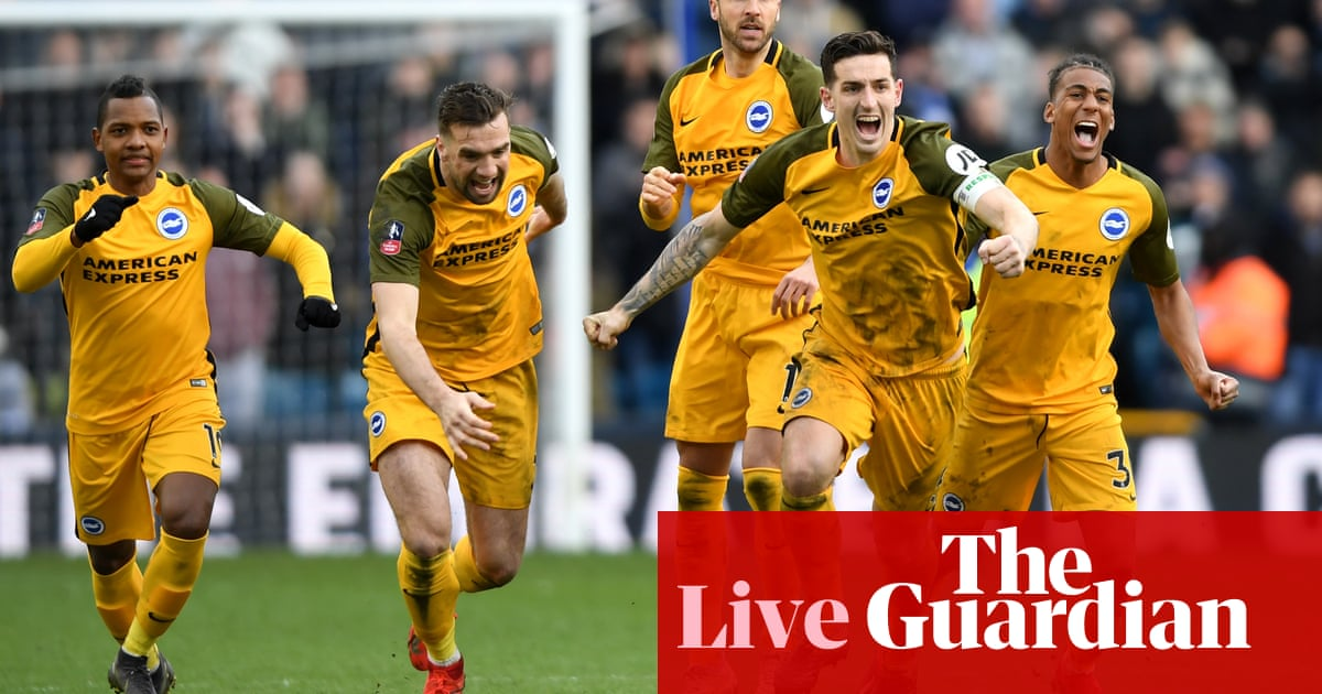 400e37c8a Millwall v Brighton and FA Cup semi-final draw – as it happened ...
