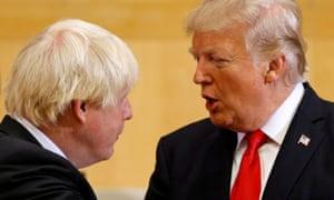 Boris Johnson with Donald Trump in 2017