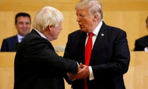 Donald Trump with Boris Johnson in 2017