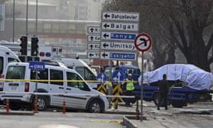 Aftermath of Ankara car bomb