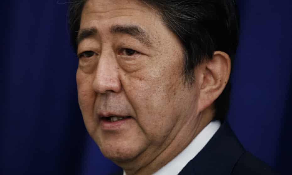 Shinzo Abe is ahead in the polls.