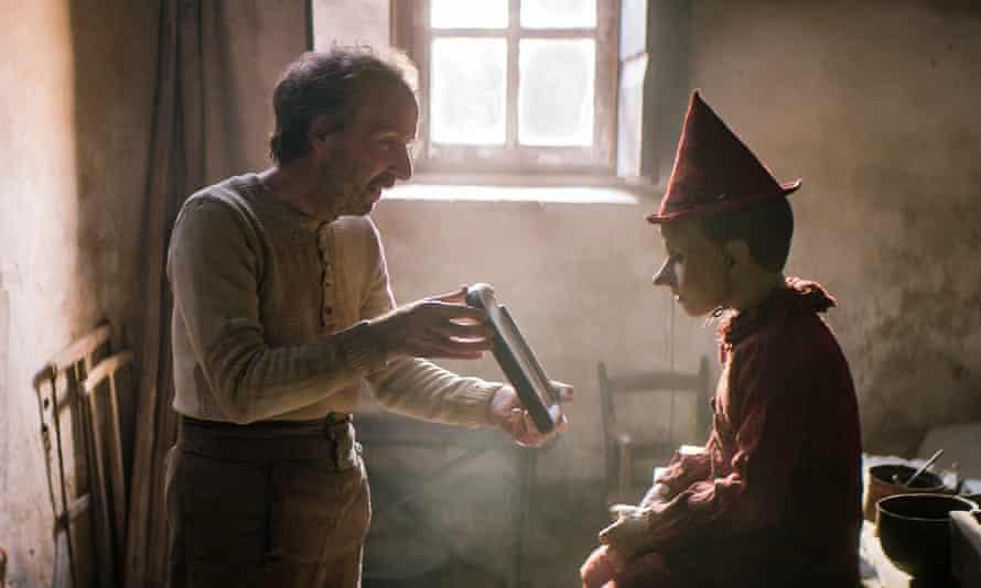 Roberto Begnini, left, and Federico Ielapi in Pinocchio.