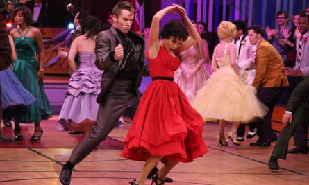 Sam Clark and Vanessa Hudgens in Grease: Live