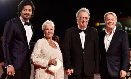 With Ali Fazal, Judi Dench and director Stephen Frears for a screening of Victoria & Abdul at the Venice film festival.