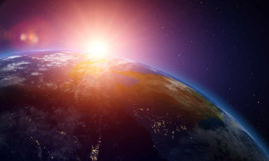 Sunrise over Australia from space