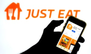 Just Eat app.