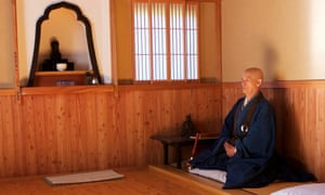 Bunkei Shibata, the head priest at the 300-year-old Kaigenji temple, practices Zen meditation.