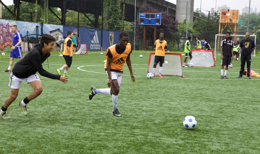 FC Harlem help local youth players develop their skills on smaller pitches