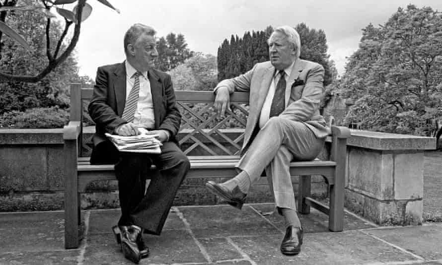 Chris Moncrieff interviewing Ted Heath at his home in Salisbury, Wiltshire.