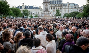 Mass outside Paris's Saint-Sulpice church on Wednesday.