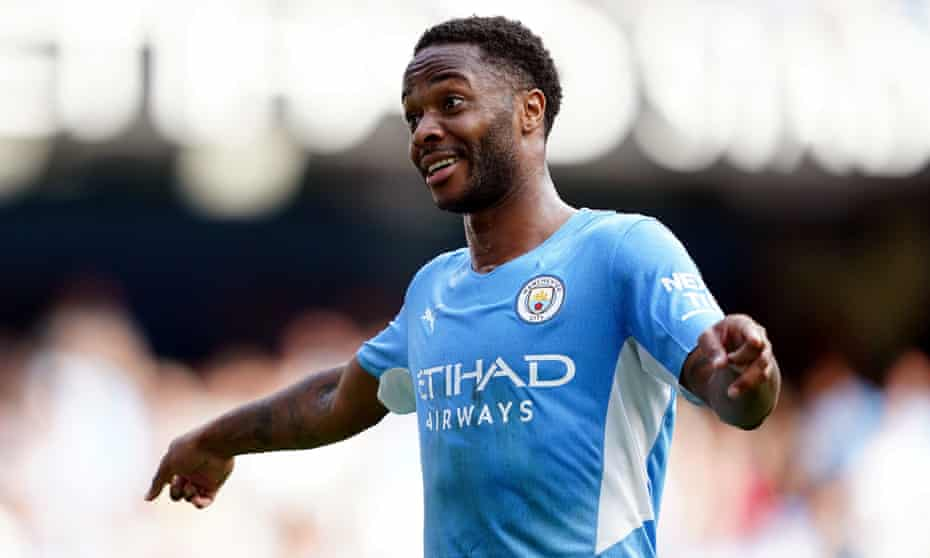 Raheem Sterling during Manchester City's game against Southampton. The forward has started only two Premier League league matches this season.