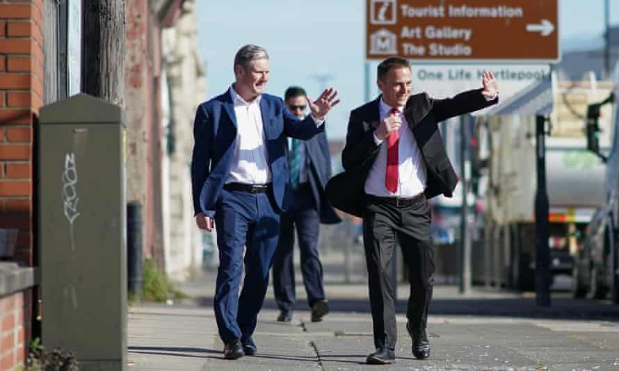 Keir Starmer and the Labour candidate for Hartlepool, Paul Williams, campaigning in the town this week