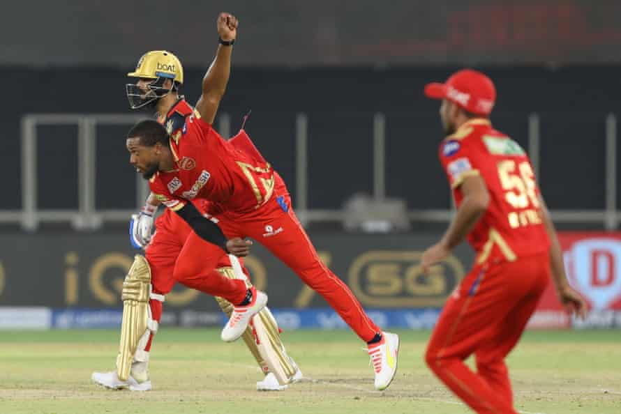 Chris Jordan in action for Punjab Kings in their IPL match against the Royal Challengers Bangalore last month.