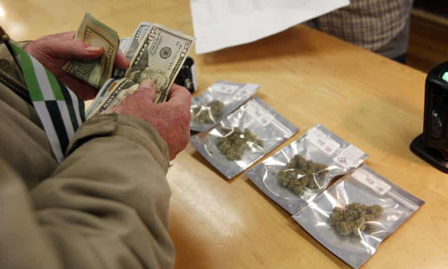 Marijuana is sold legally at a dispensary in California.
