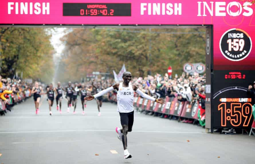 Eliud Kipchoge used the Vaporfly system for his historic sub-two-hour marathon last year.