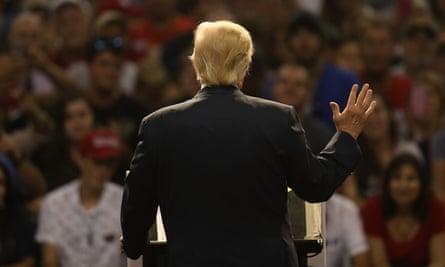 Donald Trump campaigns in Florida in 2016.