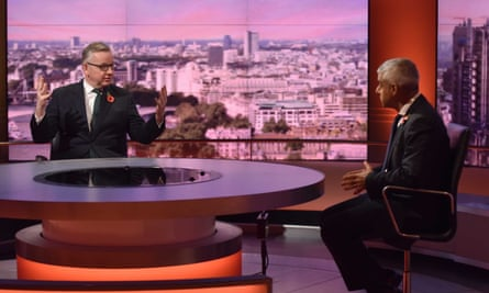 Michael Gove, left, and Sadiq Khan appear on The Andrew Marr Show