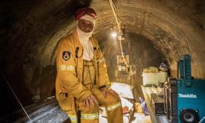 Klaus Elber in his fire bunker