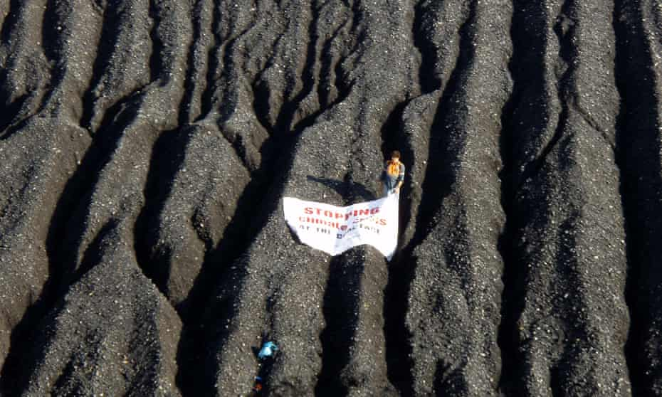 A climate change protester at Tarong power station in Queensland in 2008.