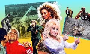 Compilation de divers moments de l'histoire du Festival de Glastonbury