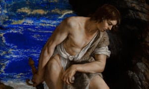 Detail of David with the Head of Goliath by Orazio Gentileschi.