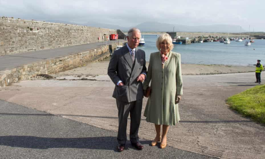 Prince Charles and the Duchess of Cornwall visit the village of Mullaghmore, where his great uncle was killed in an IRA bomb attack in 1979.