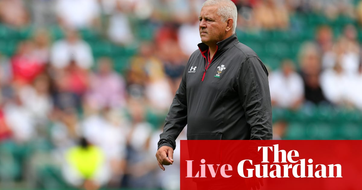 England v Wales: Rugby World Cup warm-up match – live!
