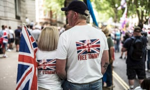 Free Tommy Robinson protesters