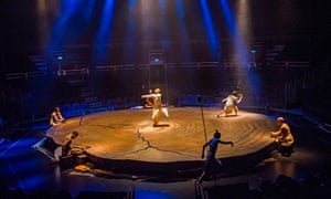 Akram Khan, centre, in Until the Lions.