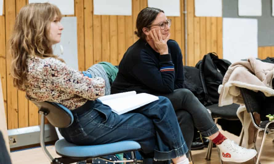 Baker and designer Chloe Lamford in rehearsals of The Antipodes.