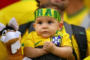 02 July 2019, Brazil v Argentina, Estadio Mineirao, Belo Horizonte. A young Brazil fan.