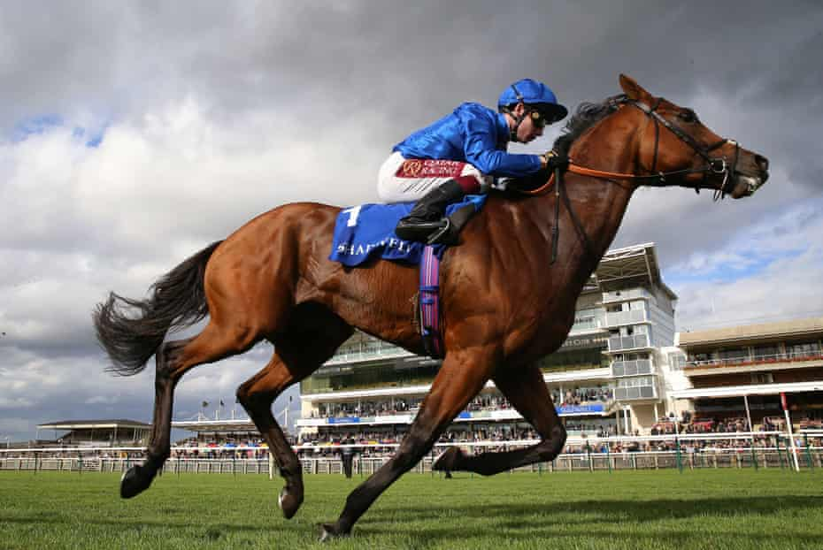 Benbatl, ridden by Oisin Murphy, wins the Shadwell Joel Stakes at Newmarket in September.