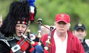 Donald Trump arrives for the opening of golf resort in 2012 in Balmedie, Scotland.