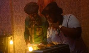 Musical immersion … Alexander James-Blake and Kadeem Ramsay select the sounds.