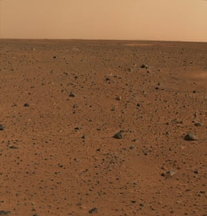 6 January 2004 – The first colour image of Mars taken by the panoramic camera on the Mars Exploration Rover Spirit