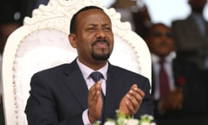 Abiy Ahmed attends a rally during his visit to Ambo in the Oromiya region, Ethiopia