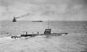 Australia's first submarine AE1 in operation off Papua New Guinea