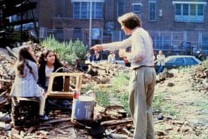 Alan Parker en el set de Fame