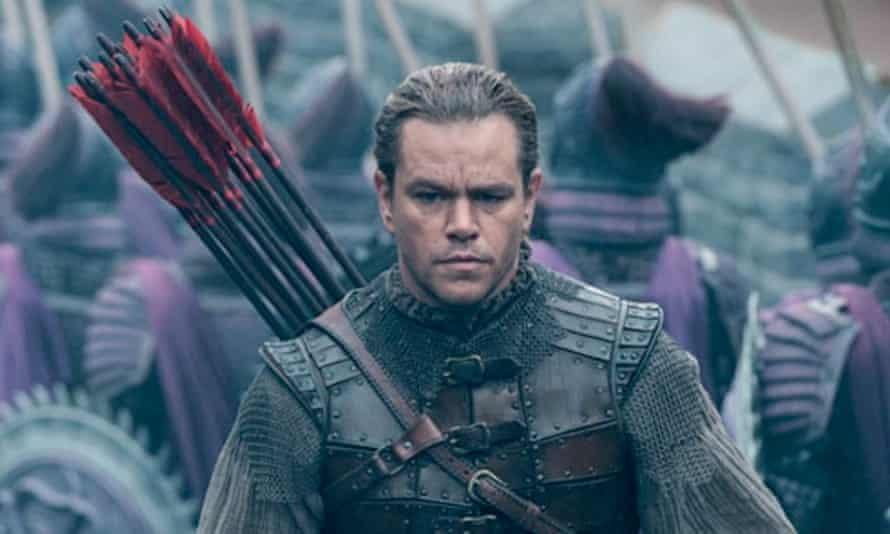 Soldiering on … Matt Damon.