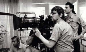 Rainer Werner Fassbinder on set in 1978.