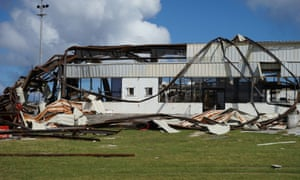 Super Typhoon Yutu caused extensive damage to infrastructure on Saipan and Tinian islands, including Saipan airport