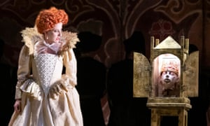 Mary Plazas as Elizabeth in ETO's staging of Rossini's opera – the first in the UK in two centuries.