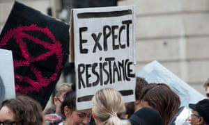 An Extinction Rebellion protest in the City of London on Tuesday
