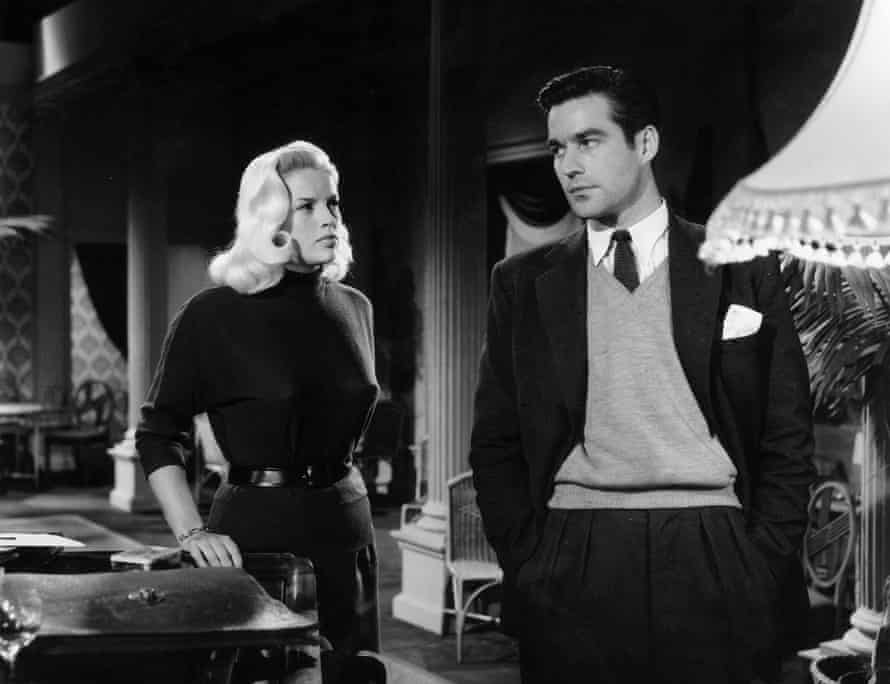 Diana Dors and Michael Craig in Yield to the Night.