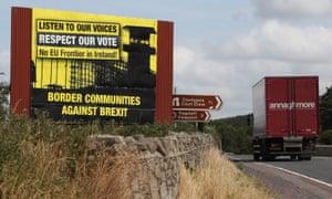 Anti-Brexit billboard near Newry in Northern Ireland
