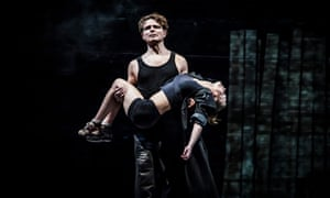 Alexander Arsentiev and Anastasia Lebedeva in Pushkin Drama Theatre's The Good Person of Szechwan, also at the Barbican.